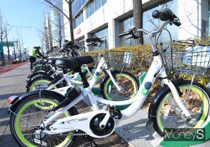 코로나19로 서울시 따릉이 자전거 이용률이 급증했다. /사진=머니S