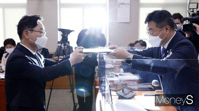 """[머니S포토] 박범계 """"민생 힘되는 법무행정…검찰개혁 완수이고 제 소명"""""""
