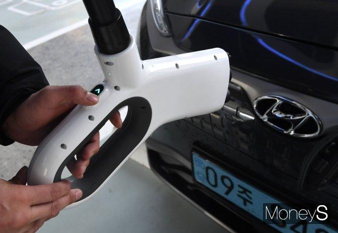 [머니S포토] 현대자동차, 현대 EV 스테이션 강동 오픈