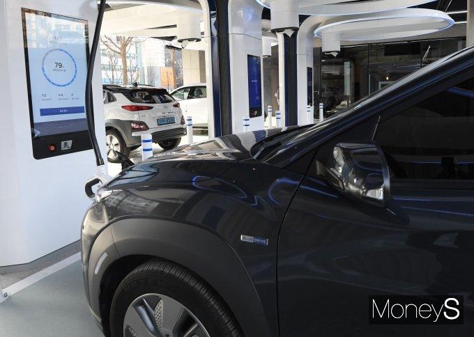 [머니S포토] 현대차, 국내 최대 전기차 충전소 오픈
