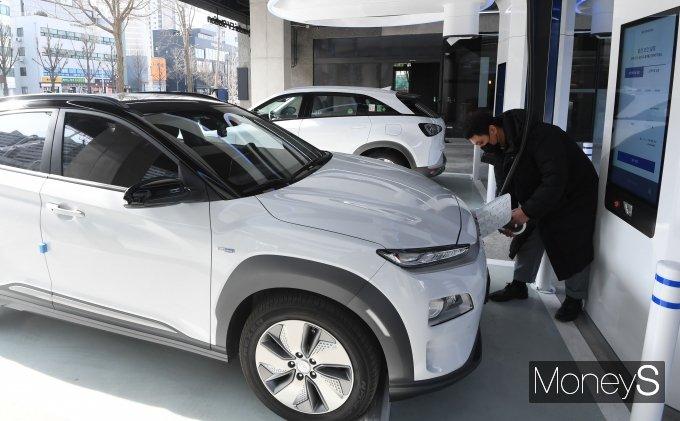 [머니S포토] 현대 EV 스테이션 강동 '급속 충전 가능'