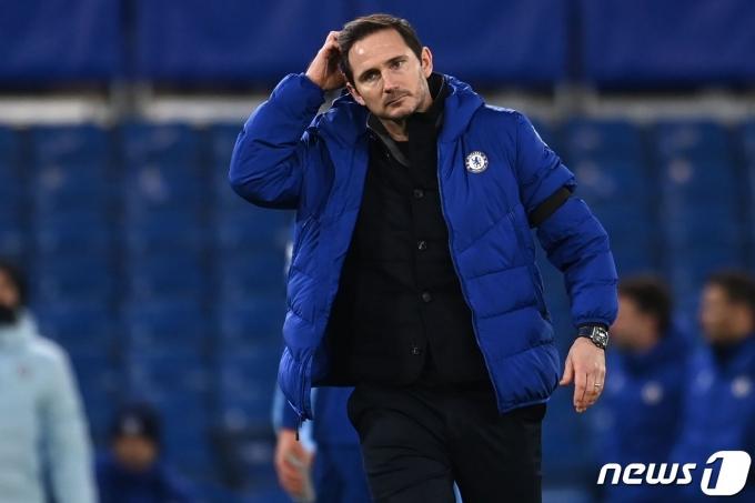 프랭크 램파드 첼시 감독이 성적 부진으로 경질됐다. © AFP=뉴스1