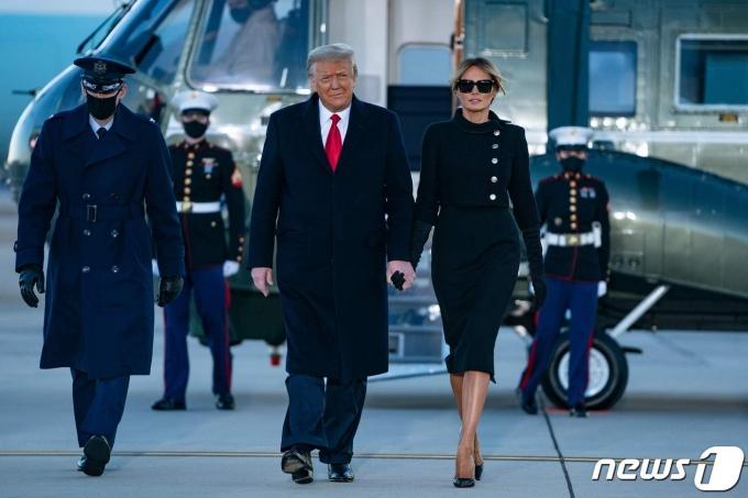 플로리다 마러러고에 도착한 도널드 트럼프 전 미국 대통령.  © AFP=뉴스1