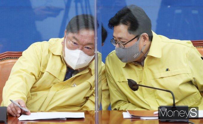 """[머니S포토] 김태년 """"당·정, 손실보상 입법 논의 시작…기준선 마련해야"""""""