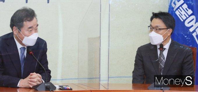 [머니S포토] 국회 찾은 공수처 김진욱, 의장 예방 후 여당 지도부 만나..
