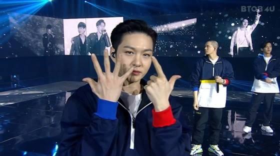그룹 '비투비' 멤버들이 온라인 콘서트 도중 취했던 제스처에 대해 해명했다. /사진=온라인 콘서트 캡처