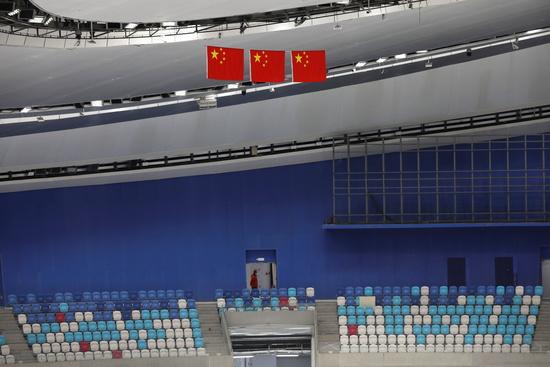 시진핑 중국 국가주석이 오는 2022년 2월 예정된 베이징 동계올림픽의 성공적 개최를 자신했다. 사진은 베이징 동계올림픽이 개최될 국립 스피드스케이팅 경기장. /사진=로이터
