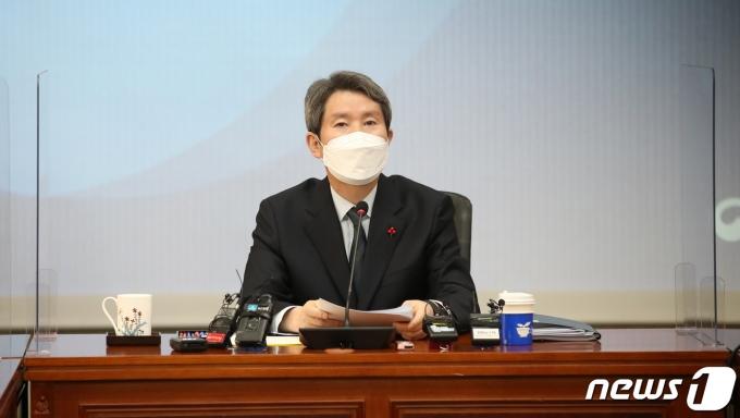 이인영 통일부 장관이 설을 맞아 남북 이산가족 화상상봉을 희망한다고 밝혀 성사 여부가 주목된다. /사진=뉴스1