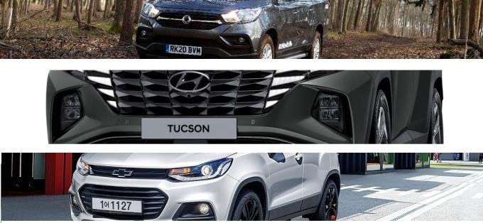 최근 5년간 국내 자동차 시장에서 경·소형 자동차 수요는 줄고 RV(SUV + CDV) 모델은 대세로 떠올랐다./사진=각사
