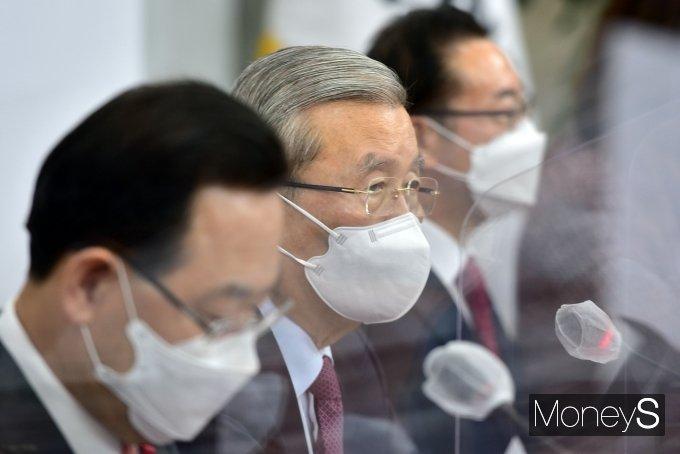 [머니S포토] 국민의힘 비대위, 발언하는 김종인 위원장