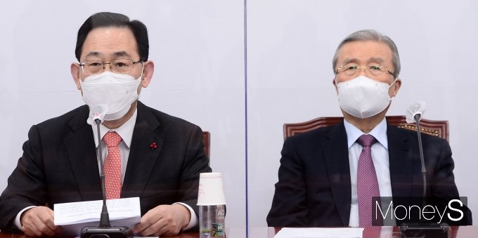 [머니S포토] 주호영 원내대표, 비대위회의 발언