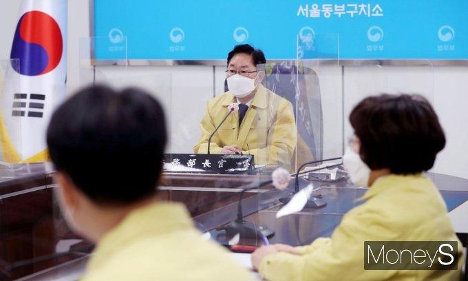"""[머니S포토] 동부구치소 찾은 박범계 """"현장 중심으로 한 민생에 집중"""""""