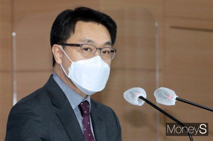 """[머니S포토] 공수처 김진욱 """"수사처 검사·수사관 지원하는 분들 마음의 부담 덜게 되어 다행"""""""