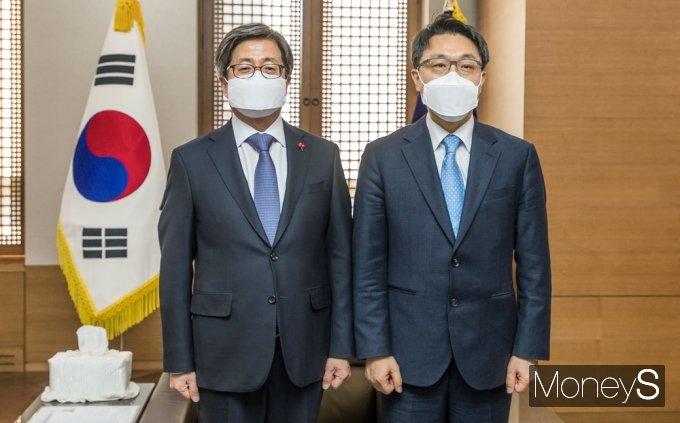 [머니S포토] 김진욱 공수처장, 김명수 대법원장 예방 이유