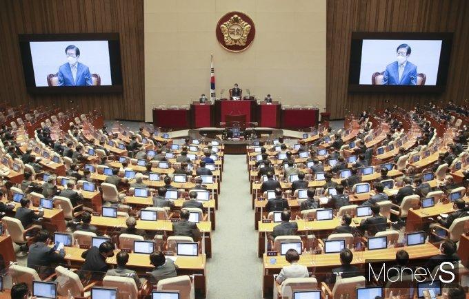 """[머니S포토] 박병석 의장 """"국민의 뜻 균형있게 반영될 수 있는 권력분산 이뤄내야"""""""