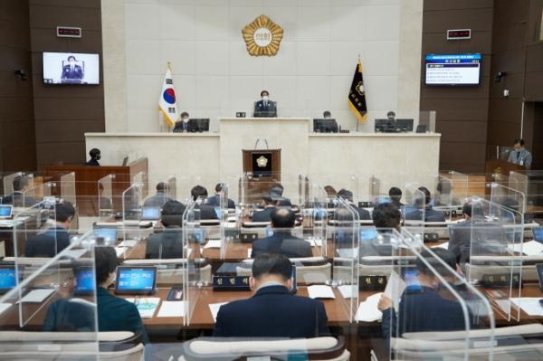 1일 용인시의회 제252회 임시회가 열린 본회의장. / 사진제공=용인시의회