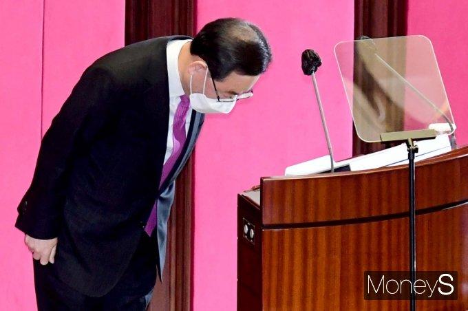 """[머니S포토] 주호영 """"4.7 보궐 선거, 문재인 정권에 대한 단호한 심판의 무대 되어야"""""""