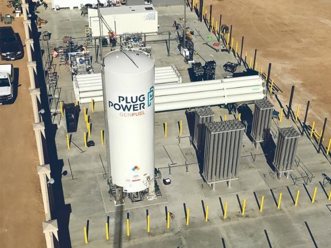 SK그룹이 투자한 미국 수소에너지 업체 플러그파워의 액화수소탱크. / 사진=SK