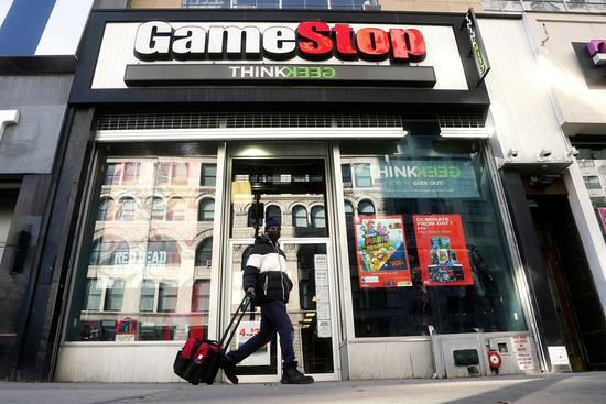 미국의 비디오게임 유통업체 '게임스탑(Gamestop)에 관심이 쏠린다. /사진=로이터