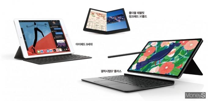 태블릿도 점점 커지고 빨라진다. /사진제공=각 사, 그래픽=김민준 기자