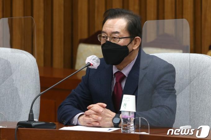 이종배 국민의힘 정책위의장이 9일 오전 서울 여의도 국회에서 열린 원내대책회의에서 발언했다. /사진=뉴스1