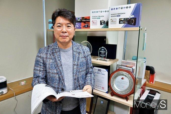 김상균 엠비즈원 대표의 제품 철학은 확고했다. /사진=박찬규 기자