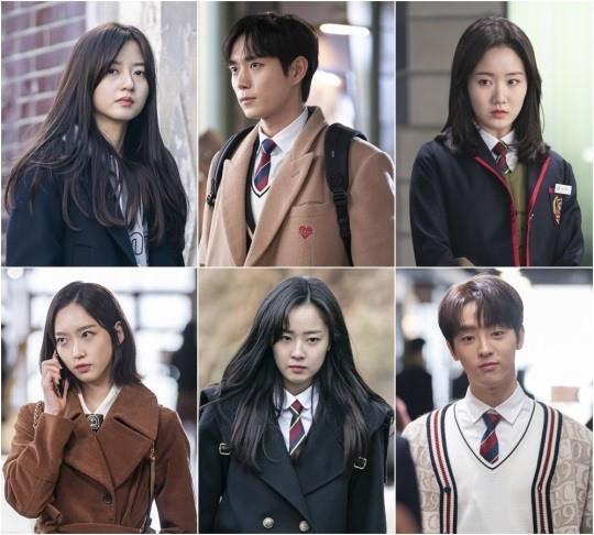 '펜트하우스2'  키즈들의 스틸컷이 공개됐다. 사진은 김현수, 김영대, 진지희, 이태빈, 최예빈, 한지현.(위쪽부터 시계방향). /사진=SBS 제공