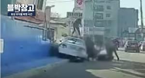 '화성 묻지마 집단폭행'으로 검거된 외국인들이 경찰에 붙잡혔다./사진=유튜브 캡처