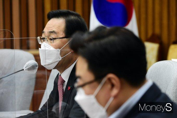 """[머니S포토] 주호영 원내대표 """"김명수, 승부조작하는 구단주"""""""