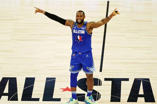 NBA 올스타전이 다음달 초 미국 애틀란타에서 열린다. 사진은 지난 시즌 올스타전 당시 출전했던 LA 레이커스 포워드 르브론 제임스. /사진=로이터