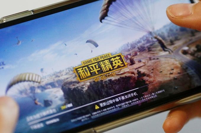 중국 게임사 텐센트가 국내 게임사 크래프톤의 배틀그라운드 IP를 제공받아 개발한 것으로 알려진 게임 화평정영. /사진=로이터