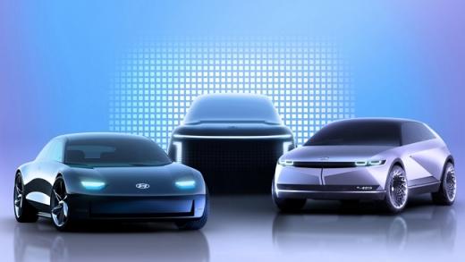 (왼쪽부터) 아이오닉 6, 아이오닉 7, 아이오닉 5. /사진=현대자동차