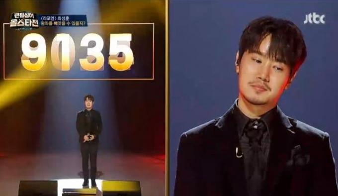 '팬텀싱어 올스타전' 에서 라포엠 최성훈이 고은성의 6연승을 막았다. /사진=JTBC 방송캡처