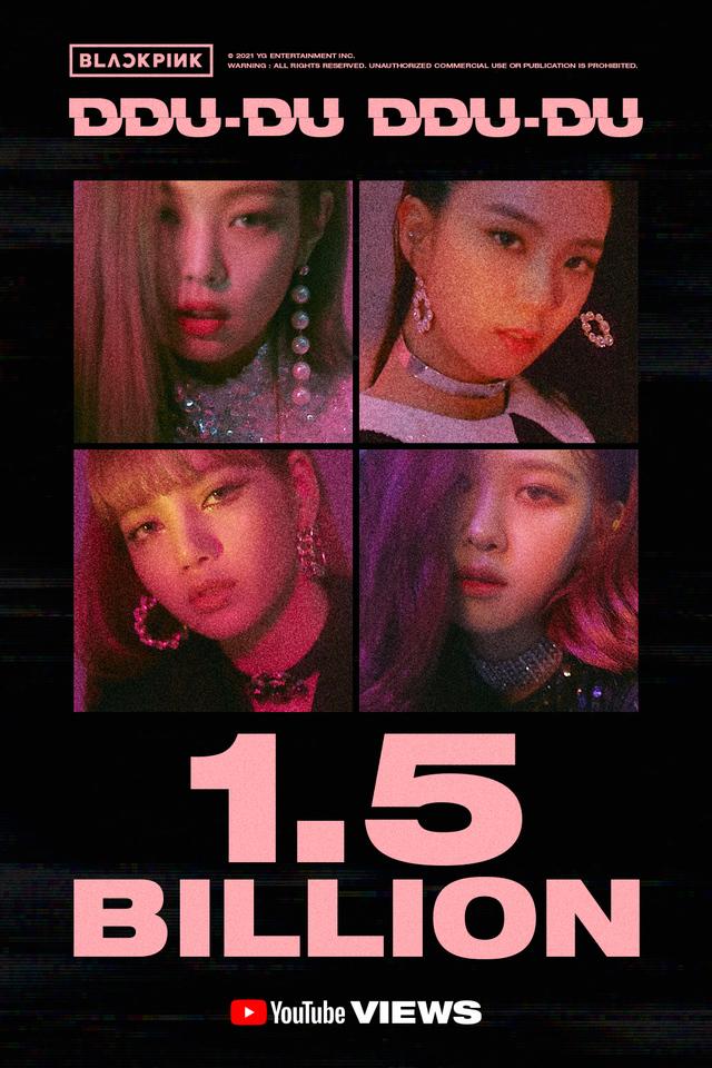 블랙핑크 '뚜두뚜두' 뮤직비디오가 유튜브에서 15억뷰를 돌파한 가운데 이는 K팝 그룹 뮤직비디오 최초의 대기록인 것으로 전해진다. /사진=YG엔터테인먼트 제공