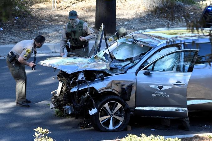 타이거 우즈의 목숨 살린 GV80 사고차 모습./사진=로이터