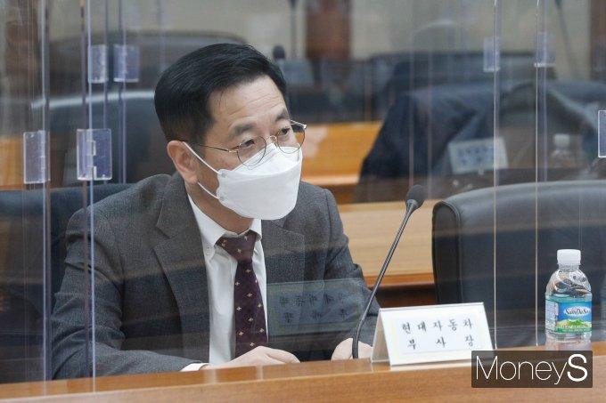 [머니S포토] 홍남기 부총리 발언 경청하는 김세훈 현대자동차 부사장