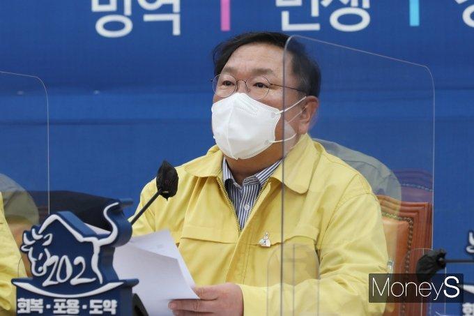 """[머니S포토] 김태년 """"야당, 백신의 정치화는 국민안전에 도움안돼"""""""