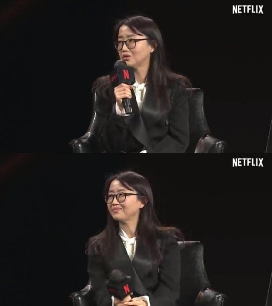 '킹덤' 시리즈 김은희 작가가 넷플릭스와의 호흡에 대한 이야기를 나눴다. /사진=넷플릭스 영상