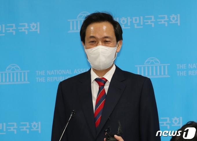 우상호 민주당 서울시장 예비후보가 이번 선거에 모든 것을 걸겠다고 다짐했다. /사진=뉴스1