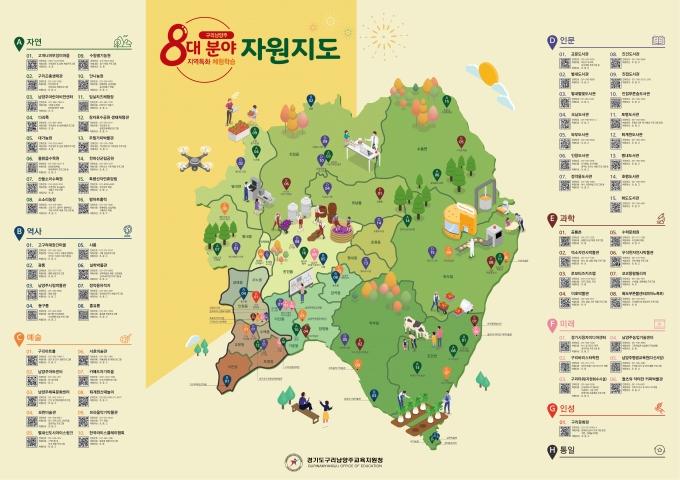 구리남양주 8대분야 지역특화체험학습 자원지. / 사진제공=경기도구리남양주교육지원청