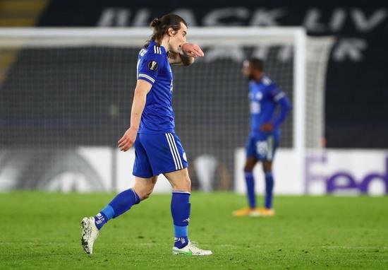레스터 시티가 26일(한국시간) 슬라비아 프라하와의 경기에서 0-2로 패하며 유럽축구연맹 유로파리그 도전을 32강에서 마무리하게 됐다. /사진=로이터