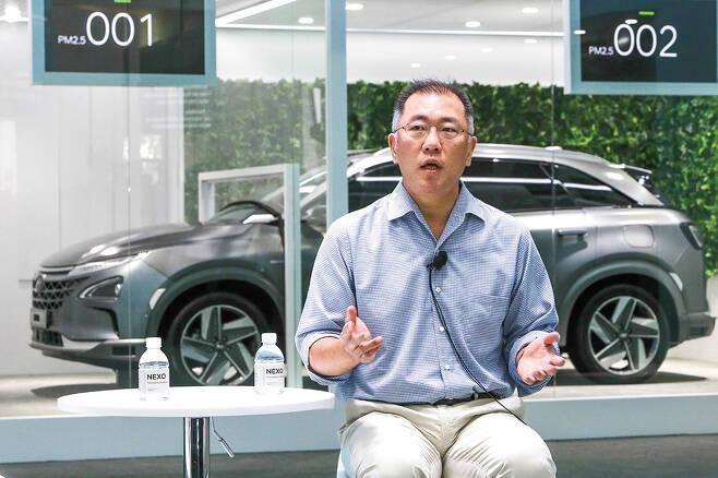 2018 상하이 CES에 참석한 정의선 현대자동차 회장 /사진제공=현대차그룹