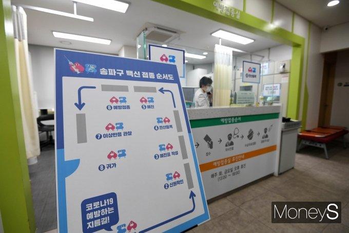 지난 26일 아스트라제네카의 코로나19 백신 접종이 처음으로 시작됐다. 사진은 서울 송파구 보건소에 게시된 백신 접종 순서도. /사진=장동규 기자
