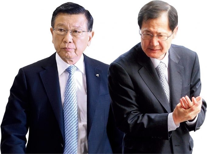 박삼구 전 금호아시아나그룹 회장(왼쪽)과 박찬구 금호석유화학 회장. / 사진=뉴시스·머니투데이
