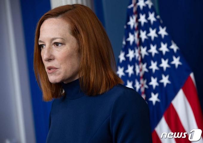 젠 사키 백악관 대변인. <자료 사진> © AFP=뉴스1 © News1 우동명 기자