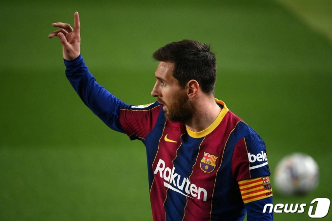리오넬 메시는 스페인 프로축구 프리메라리가 8경기 연속 골을 기록했다. © AFP=뉴스1