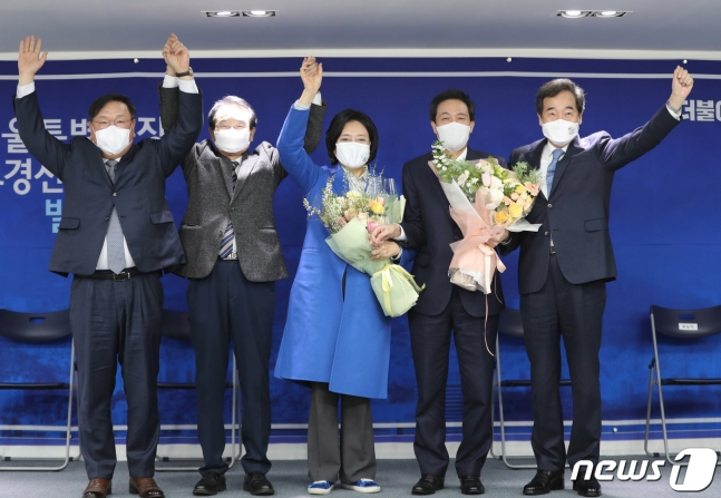 """서울시장 후보 박영선 """"반값 아파트·소상공인 무이자대출 만들 것"""""""