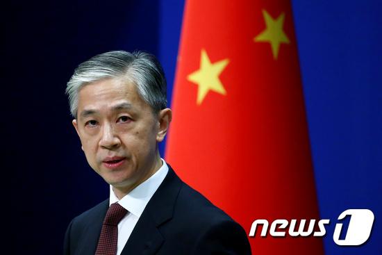 왕원빈 중국 외교부 대변인. © 로이터=뉴스1