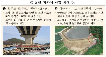국토부는 '노후 기반시설 성능개선지원 시범사업' 대상 지자체 11곳을 선정했다고 밝혔다. 이번 시범사업에 선정된 곳은 총사업비의 50% 안팎의 국비를 지원받게 된다. /사진제공=국토부