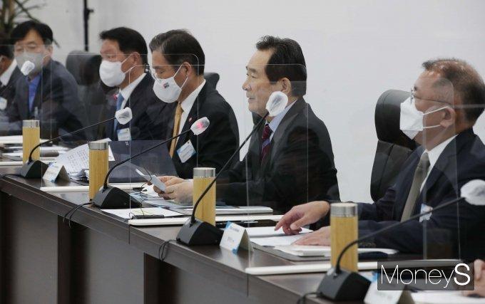 [머니S포토] 제3차 수소경제위원회서 발언하는 정세균 총리